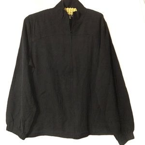 Orvis zip-up jacket EUC large black seersucker